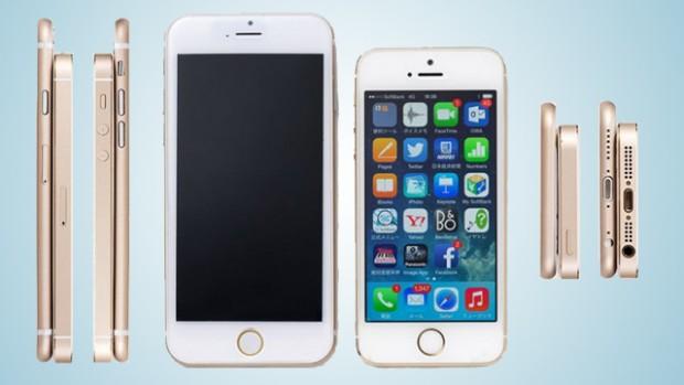 iPhone 6 и iPhone 5S вид спереди