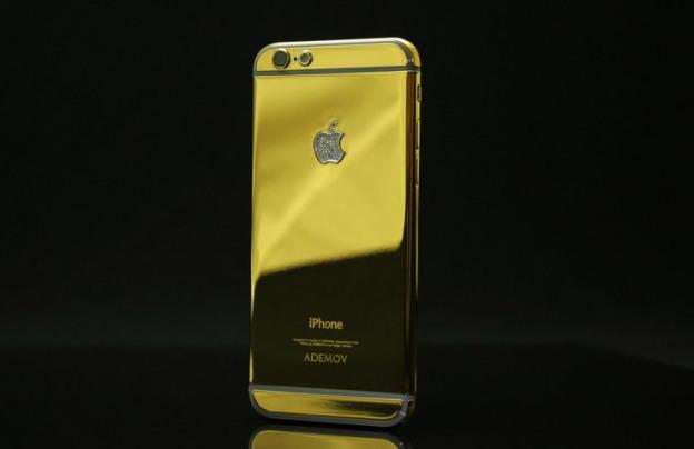 В продаже появился золотой iPhone 6 с бриллиантами