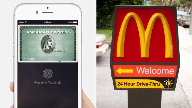Система Apple Pay оказалась популярной среди любителей фаст-фуда