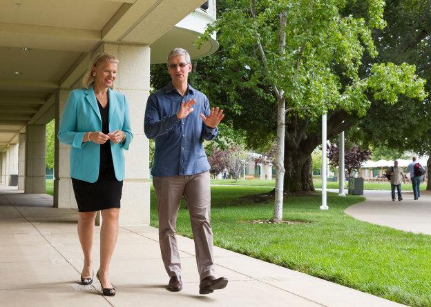Компания Apple планирует больше сотрудничать с корпоративными клиентами