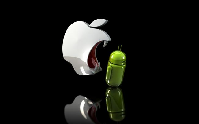 apple with