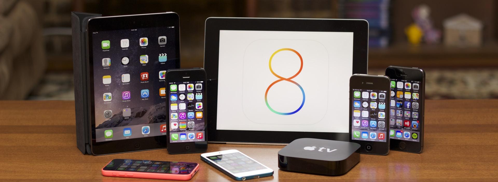 ios8.1 на разных устройствах
