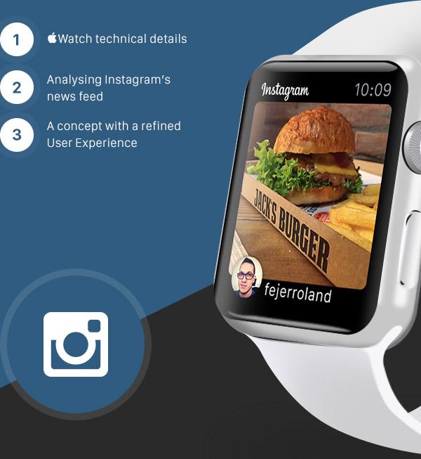 Появился концепт сервиса Instagram для новых Apple Watch