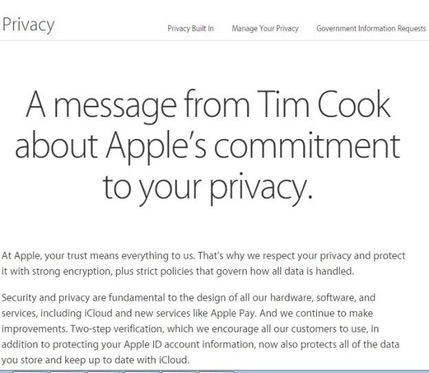 tim cook message