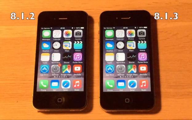 Пользователи уже проводят первые сравнительные тесты iOS версий 8.1.2 и 8.1.3