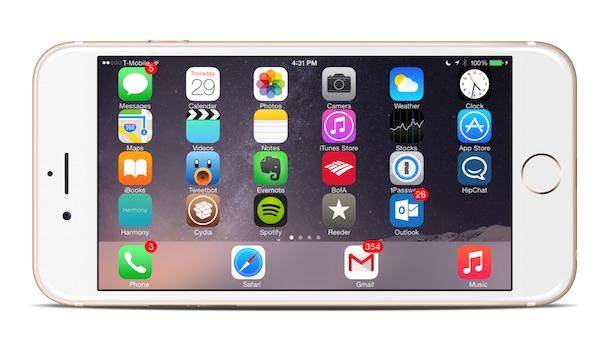 Твик SBRotator позволяет пользоваться домашним экраном iPhone в горизонтальном положении