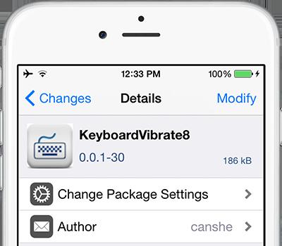 Новый твик может включить вибрацию в iOS 8 во время набора текста