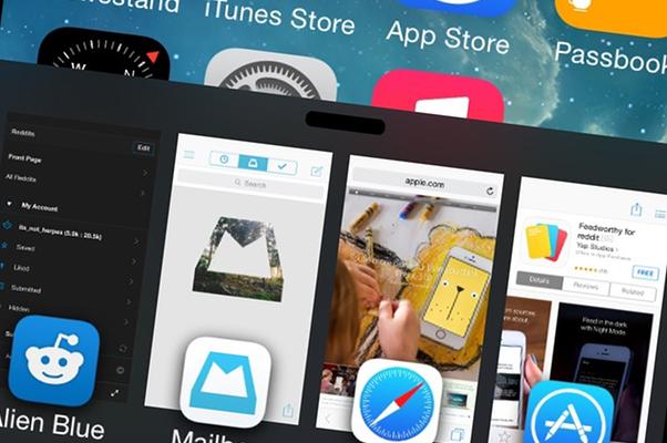 Теперь можно изменить панель многозадачности в iOS 8