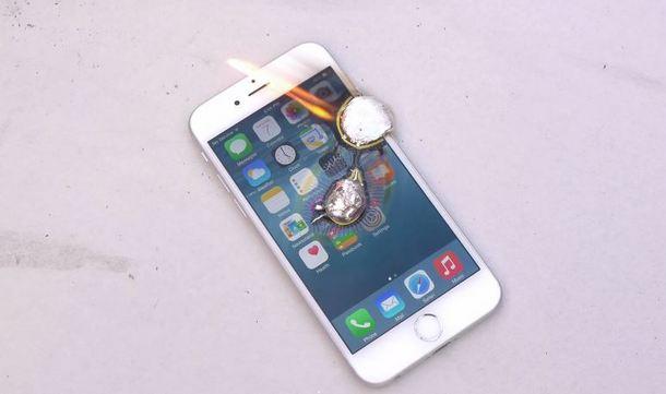 iPhone 6 поборолся с жидким алюминием