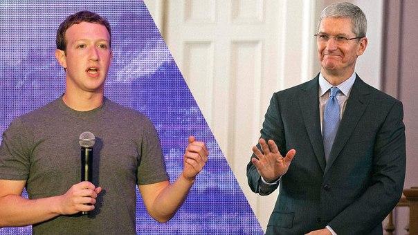 Марк Цукерберг и Тим Кук