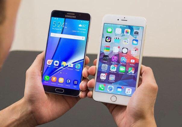 Galaxy note 6 против iPhone 7
