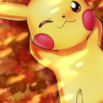 Autumn-Pikachu-iPhone-Wallpaper