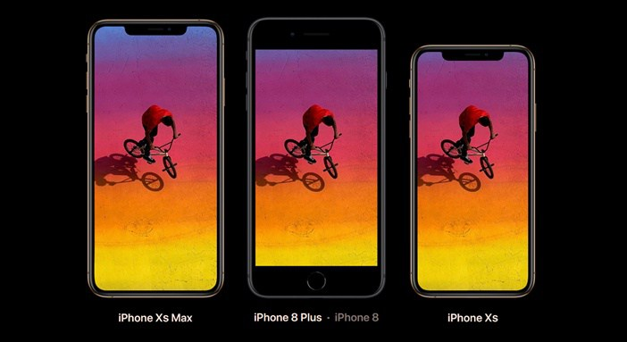 iPhone-Xs-Max-vs-8-Plus-vs-Xs-displays